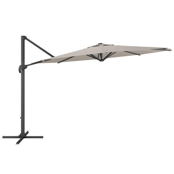 Deluxe Offset Patio Umbrella Sand Grey