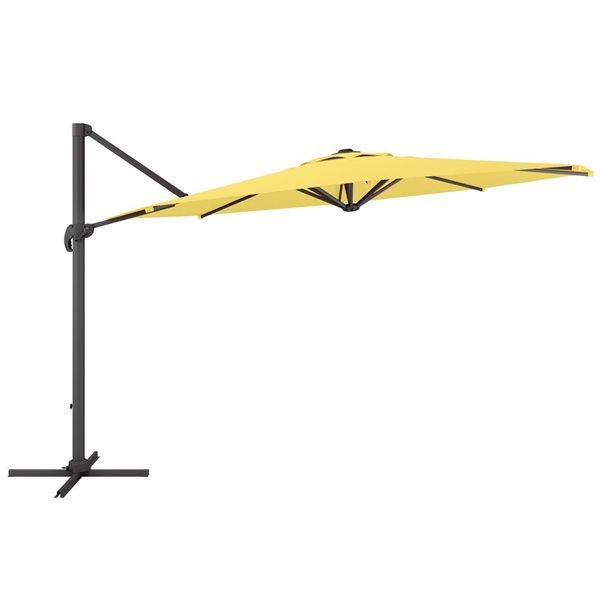 CorLiving Deluxe Offset Patio Umbrella - Yellow