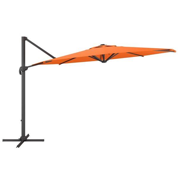 CorLiving Deluxe Offset Patio Umbrella - Orange