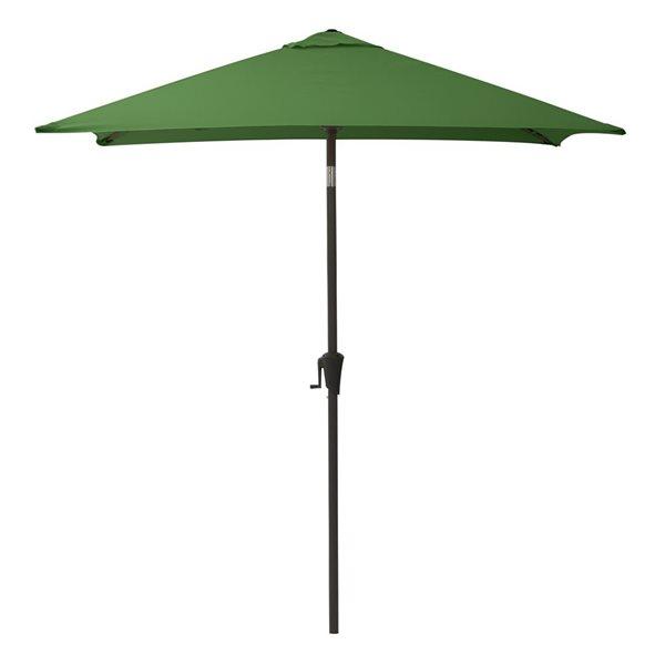 CorLiving Square Patio Umbrella - Forest Green