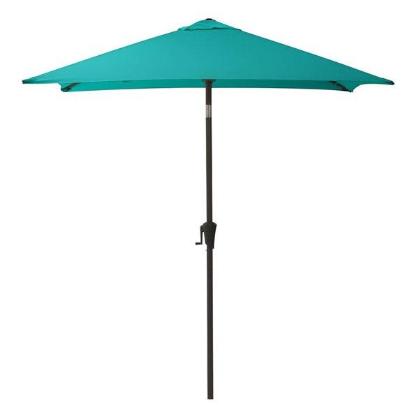 CorLiving Square Patio Umbrella - Turquoise Blue