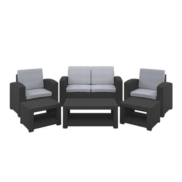CorLiving Conversation Set - 6 Pieces - Grey