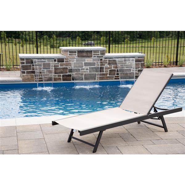Urban Sun Lounge chair - Aluminum - Cocoa