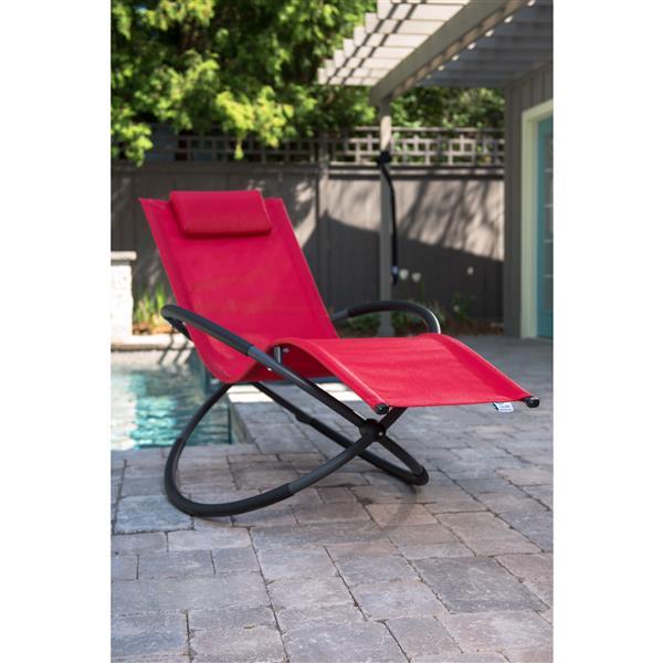 Vivere Orbital Single Lounge chair - Cherry Red