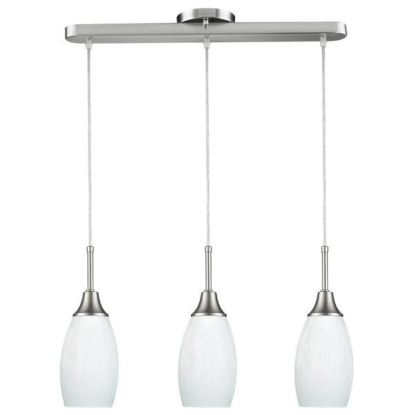 Luminaire suspendu Peak, 3 lumières, verre, blanc
