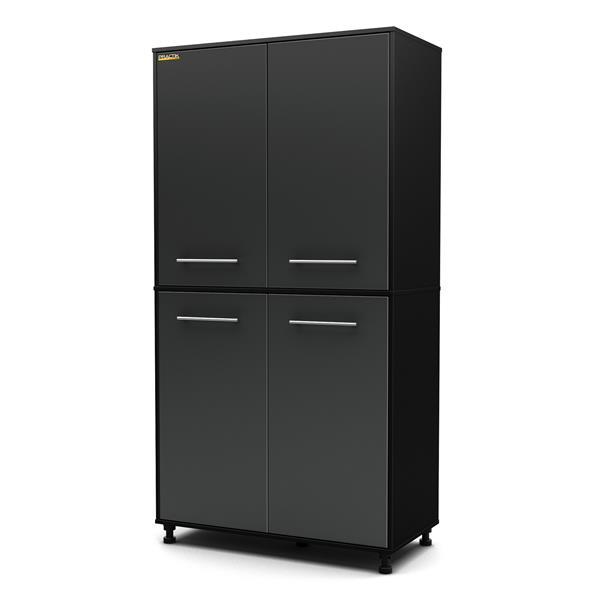 South Shore Furniture Storage Cabinet - 35.5-in x 19.5-in x 71.25-in - Black