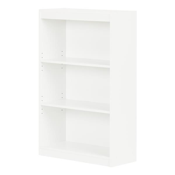 South Shore Furniture Axess 3-Shelf Bookcase - 28-in x 11.5-in x 43.25-in - White