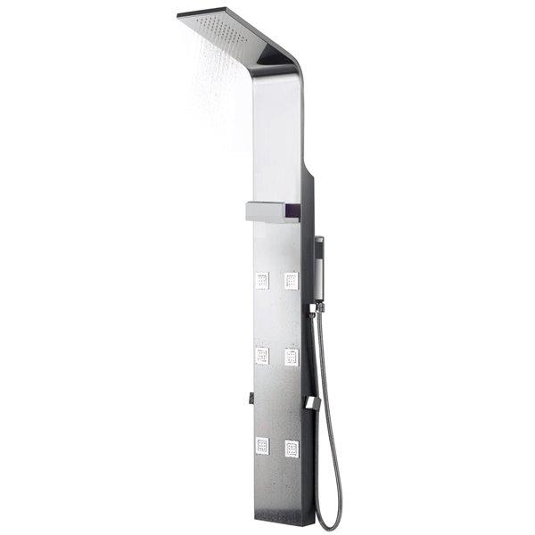 "Shower Panel - 7.87"" - Brass - Chrome"