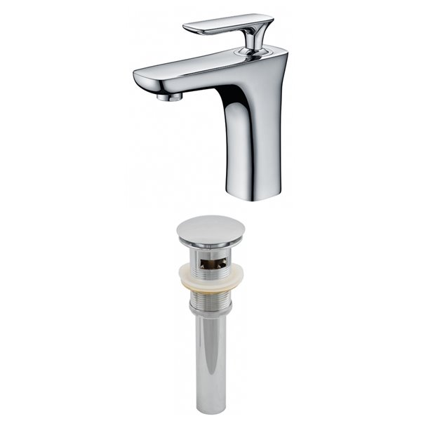 """Ensemble de robinet, 1 trou, 4,62"""", chrome"""