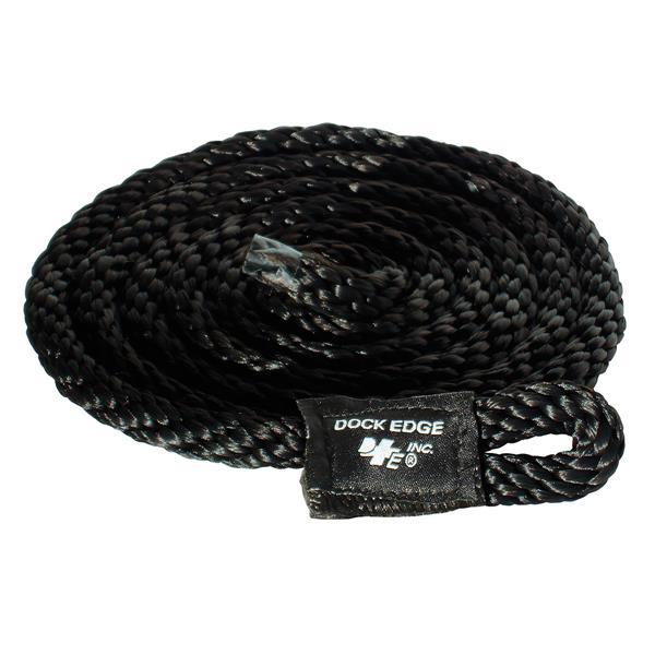 Dock Edge + Fender Lines - 8' - Black - Pack of 2