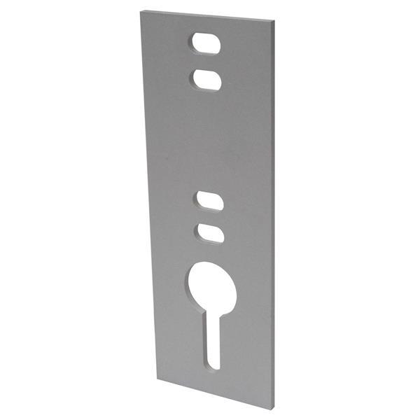 "Chain Plate - 0.5"" - Metal - Gray"