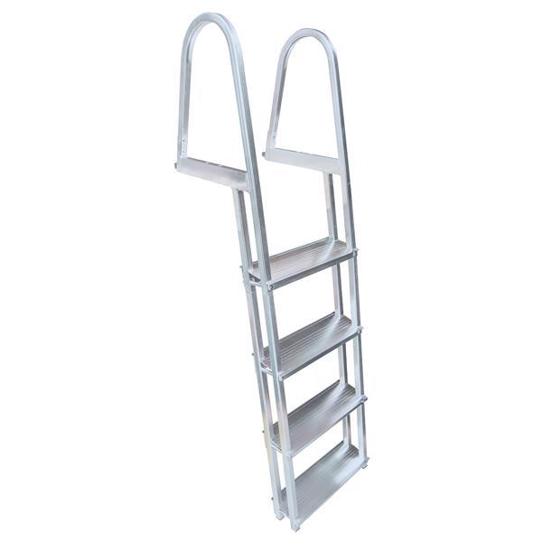 Stand Off Dock Ladder - 4 Steps - Aluminum - Gray