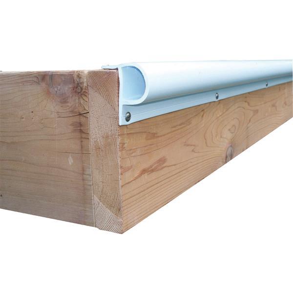 """Dock Edge + """"P"""" Dock Bumper Profile - 23-in - PVC - White"""
