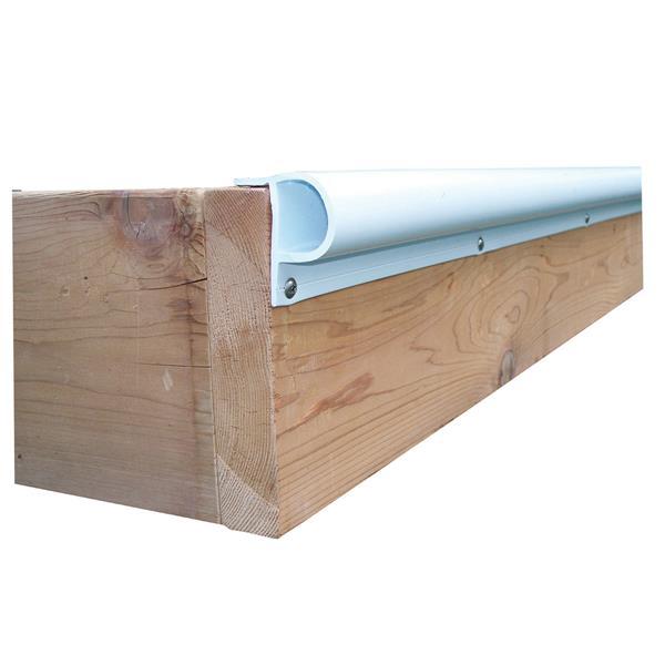 """Dock Edge + """"P"""" Dock Bumper Profile - 24-in - PVC - White"""