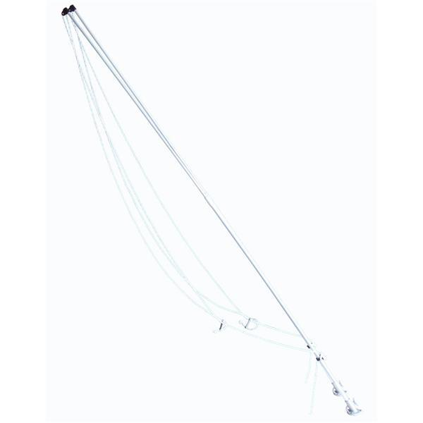 Mooring Whips - 12' - Fibreglass - Gray