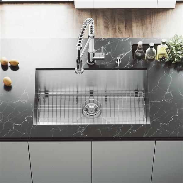 Stainless Steel Kitchen Sink Grid And Strainer 30