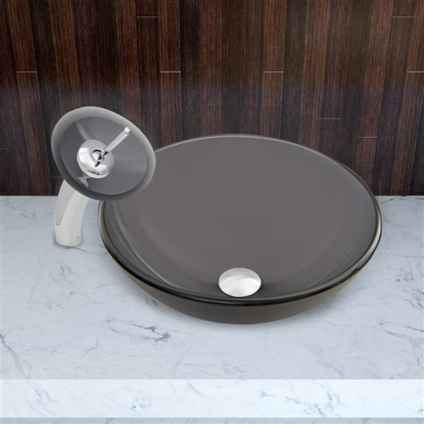 American Imaginations AI-18002 Rectangle Vessel Set In White Color with Single Hole Cupc Faucet