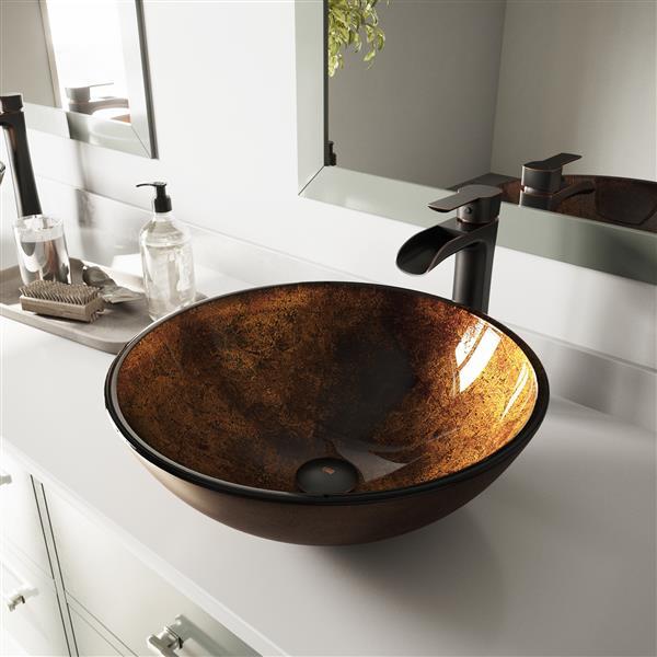 Vasque de salle de bain, rouille