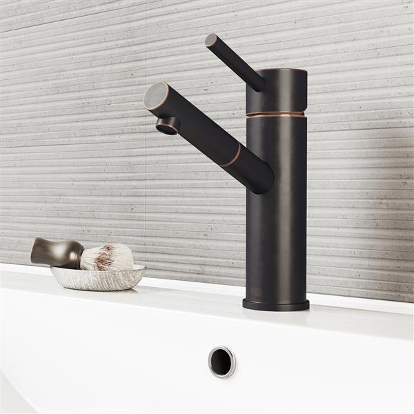 Norma Single Hole Bathroom Faucet/Pop-Up - Antique Bronze