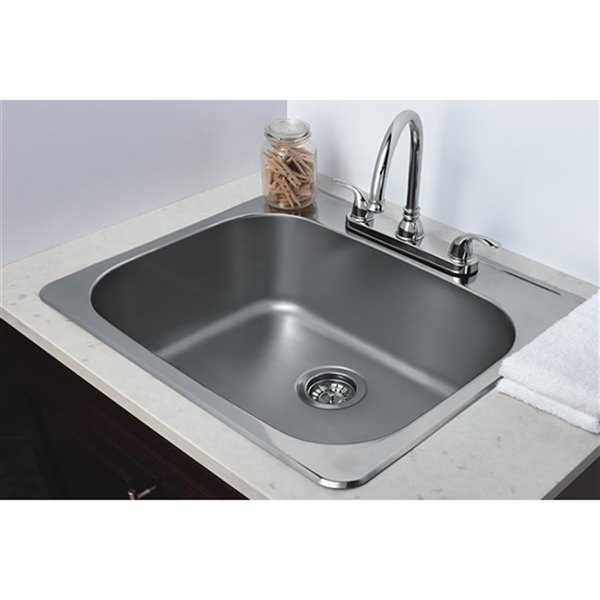 """American Imaginations Laundry Sink - 25"""" x 22"""" - Stainless Steel"""