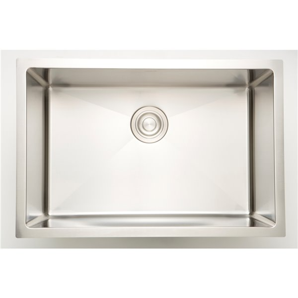 """Laundry Sink - 18"""" - Stainless Steel - Chrome"""