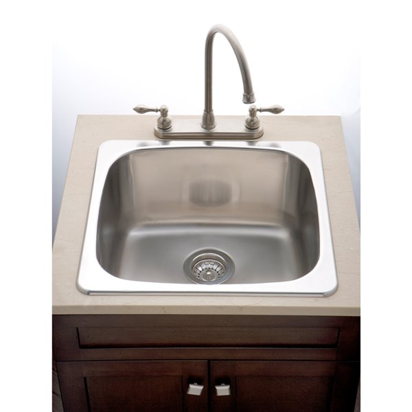 "Laundry Sink - 18"" - Stainless Steel"