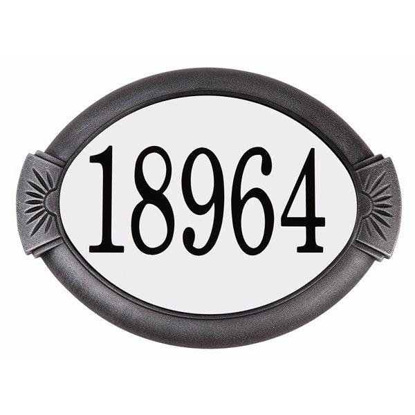Classic Cast Aluminum Address Plaque, Swedish Silver