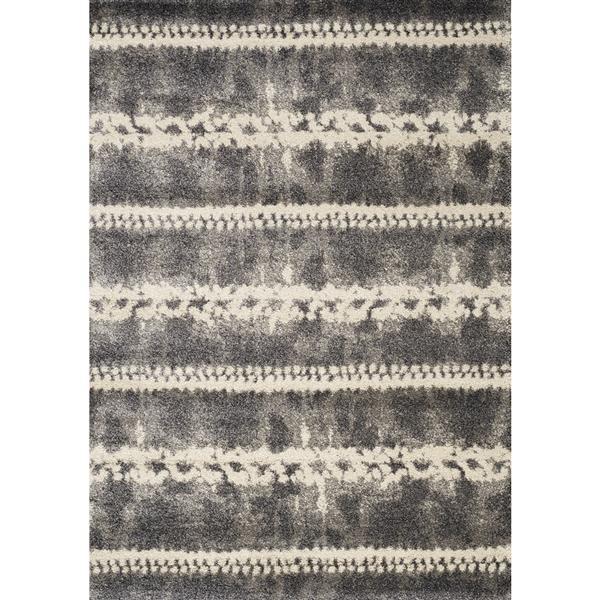 Tapis Ashbury géométrique de Kalora, 8' x 11', gris