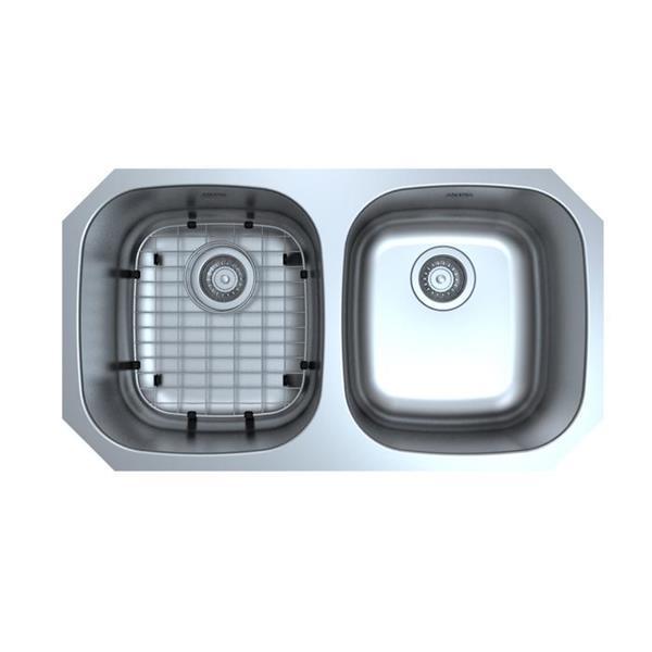 "Ancona Capri Undermount Double Kitchen Sink - 32"""