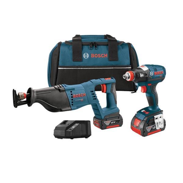 Bosch 2-Tool Cordless Combo Kit - 18 V