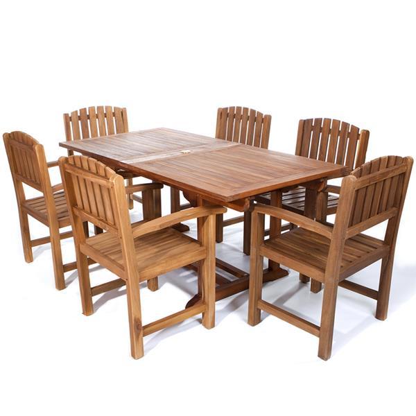 All Things Cedar Teak Dining Chair Set - 7 Pieces