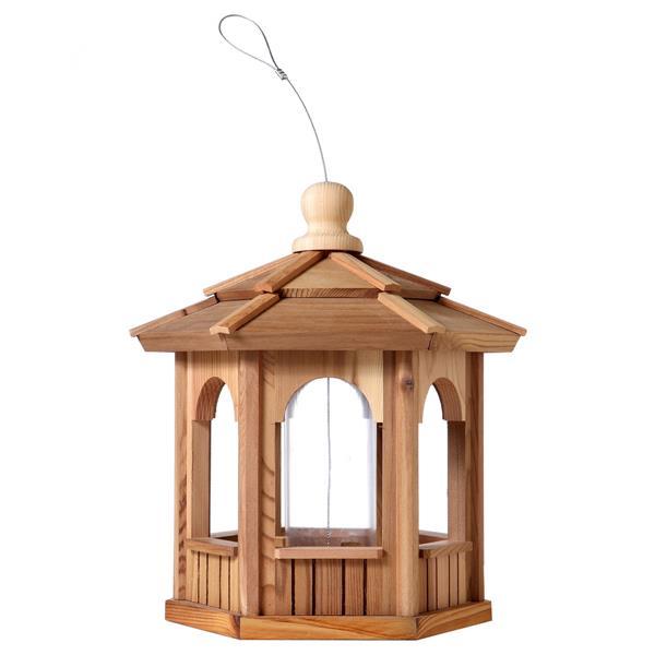 All Things Cedar Hexagon Cedar Birdfeeder