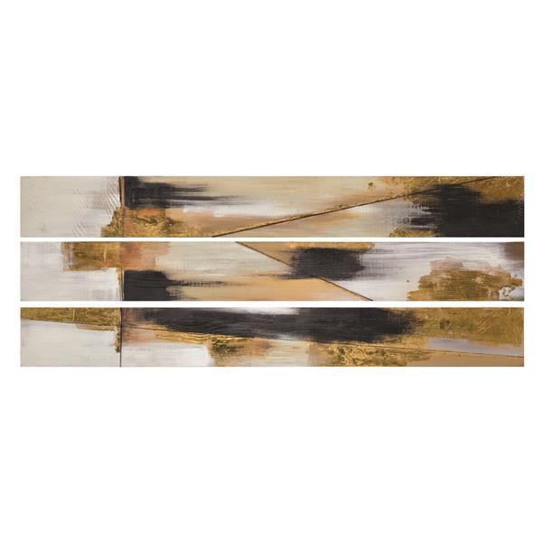 Notre Dame Design Twist Wall Art - 60-in x 7-in- MDF - 3 Pieces