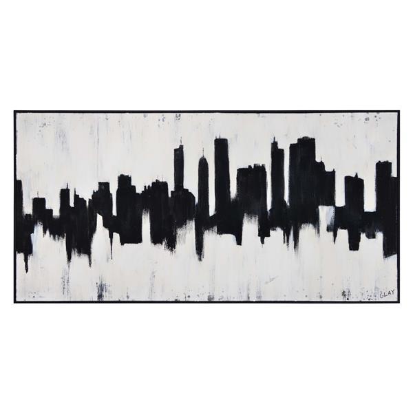 Notre Dame Design Barnes Wall Art - 30-in x 60-in- Canvas - Black