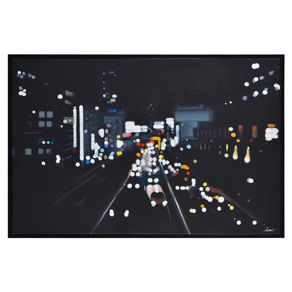 Notre Dame Design Otto Wall Art - 40-in x 60-in- Canvas - Black