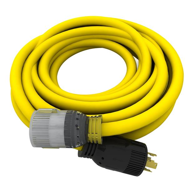 DEK Universal 25' Generator Extension Cord 10/4, 240V