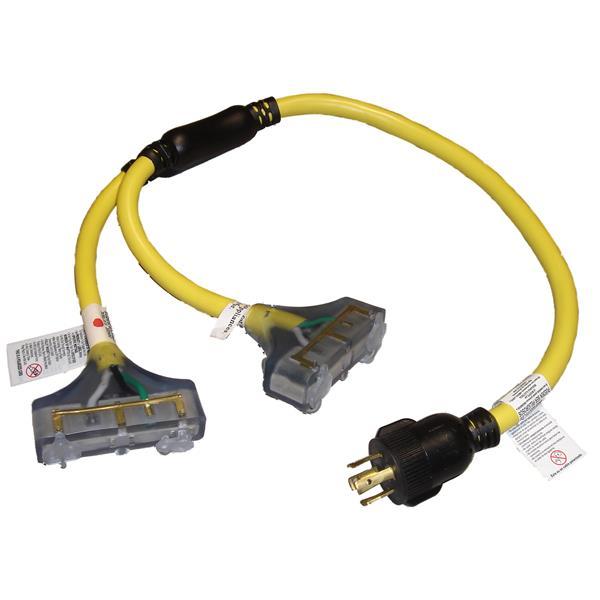 DEK Universal 10/4, 240V Generator Twist-Lock Adapter 3'