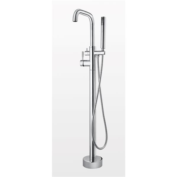 OVE Decors Mikhail Chrome Freestanding Faucet