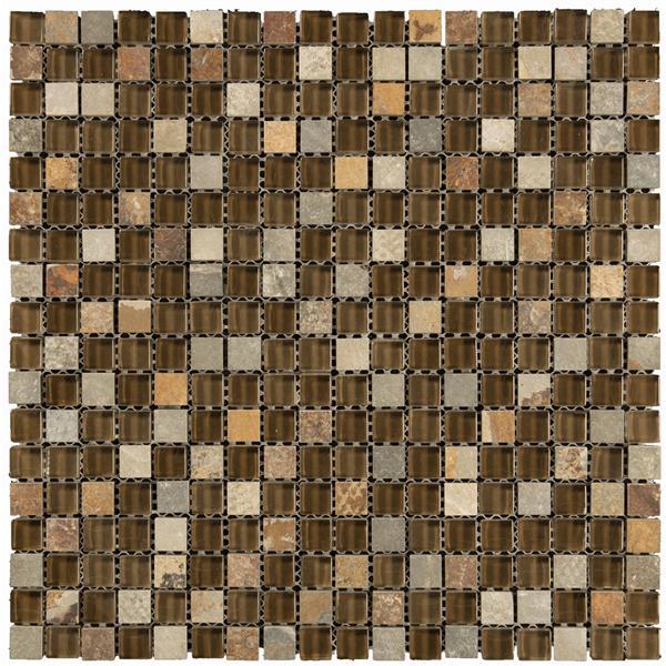 Gl Mosaic 12 X Combo Brown 10