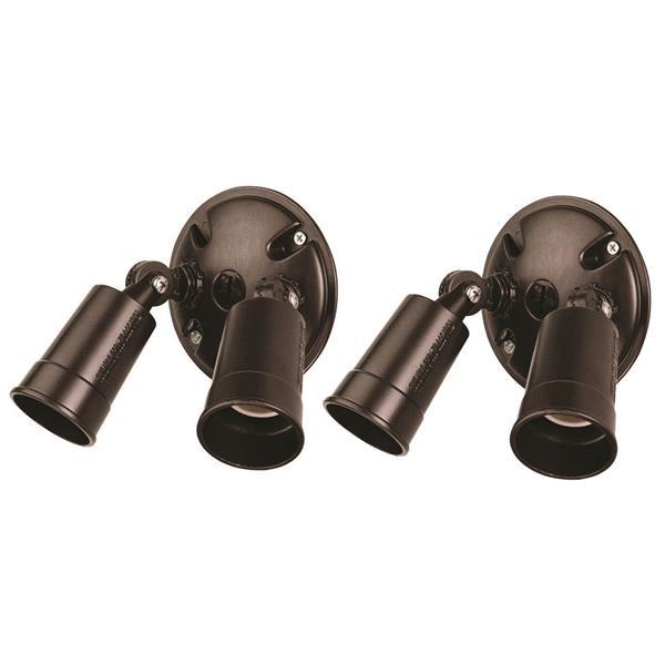Acclaim Lighting Safety Lights - Aluminum - Bronze - Pack of 2