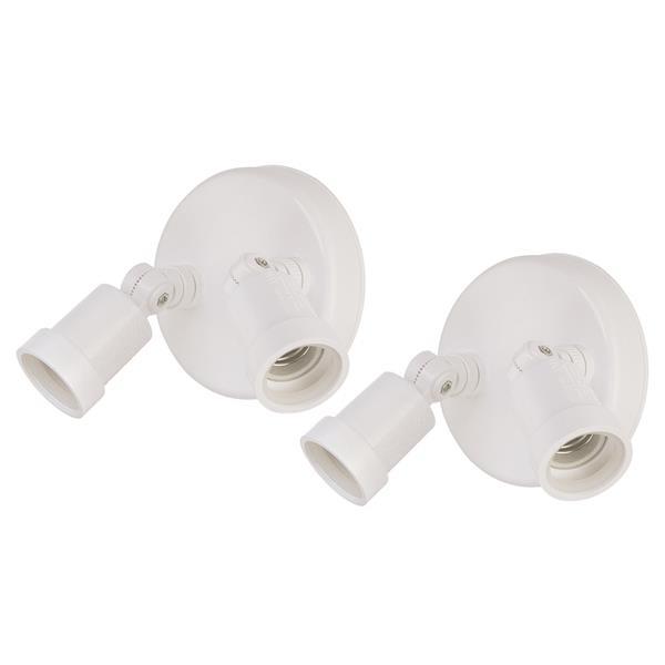 Lumières de sécurité, aluminium, blanc, paquet de 2
