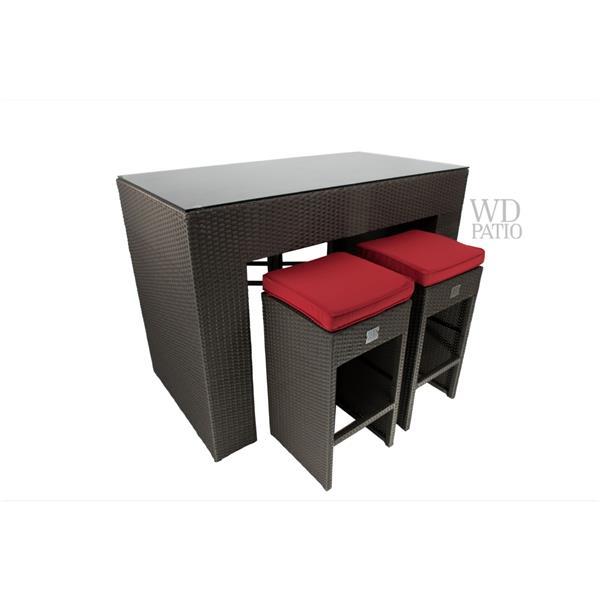 WD Patio Lax Mini Bar - Red
