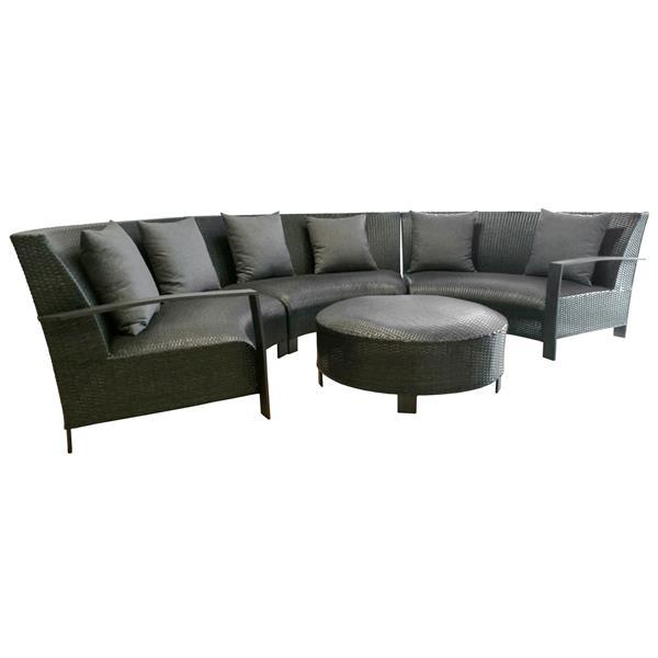 Henryka 4-Piece Exterior Sofa Set - Black