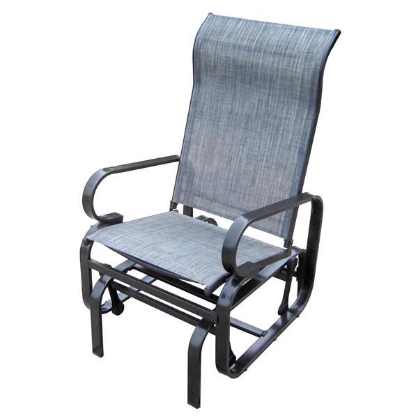 Henryka Outdoor Glider Chair - Grey