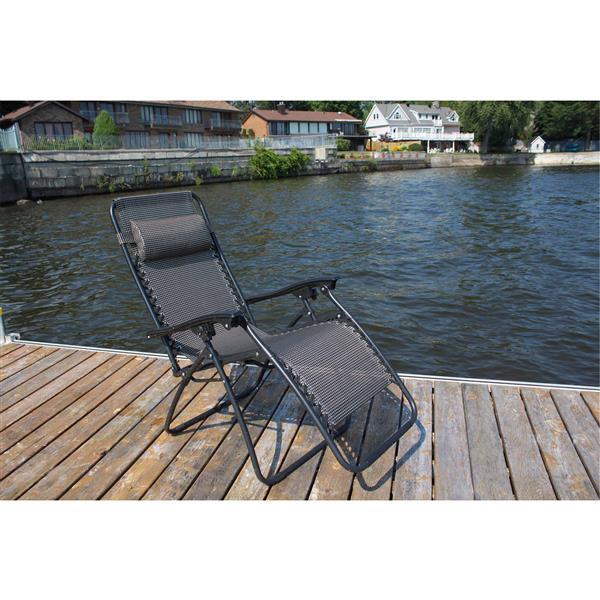 Henryka Patio Casual Chair  - Adjustable – Black