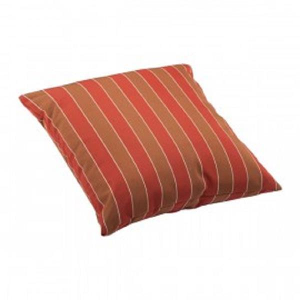 Zuo Modern Joey Outdoor Pillow - Large - Brown and Clay Wide Stripes