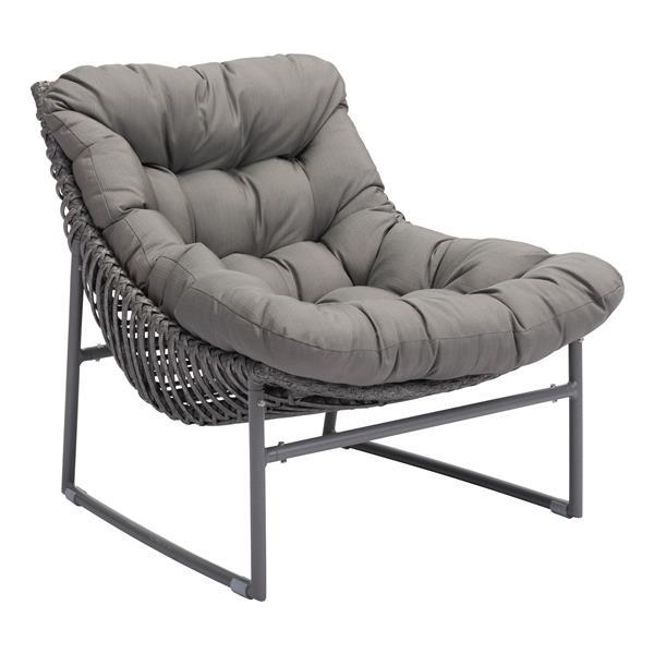 Zuo Modern Ingonish Beach Chair - Grey