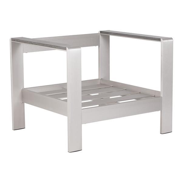 Cosmopolitan Arm Chair Frame - Brushed Aluminum