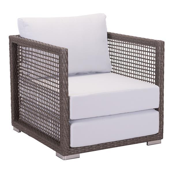 Coronado Arm Chair - Cocoa and Light Grey