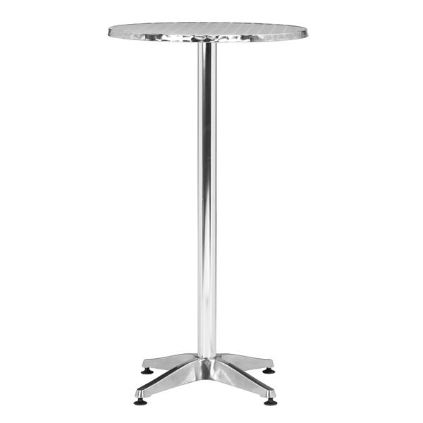 Christabel Round Bar Table - Aluminum